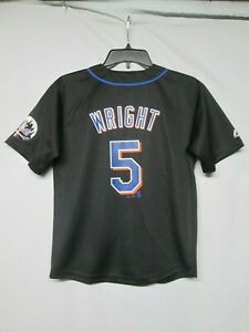 new style 7e956 870ac Details about MLB New York Mets David Wright Majestic Youth Jersey size  Medium 10 - 12