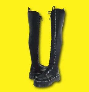 lusso accaparramento come merce rara qualità incredibile RARE Dr. Martens x Agyness Deyn AGGY TALL 25 Eye Over The Knee ...