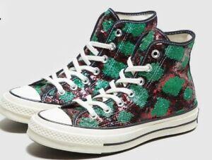 Converse sequinned snake-print sneakers