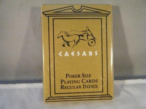 Gold Color Las Vegas Caesars Poker Size Playing Cards New Sealed Herbko