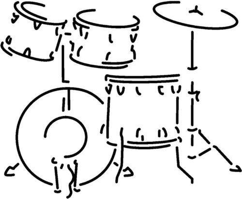 Aufkleber 30 cm farbwahl Dekor 8 Farben • Musik Instrument • SCHLAGZEUG AP0671