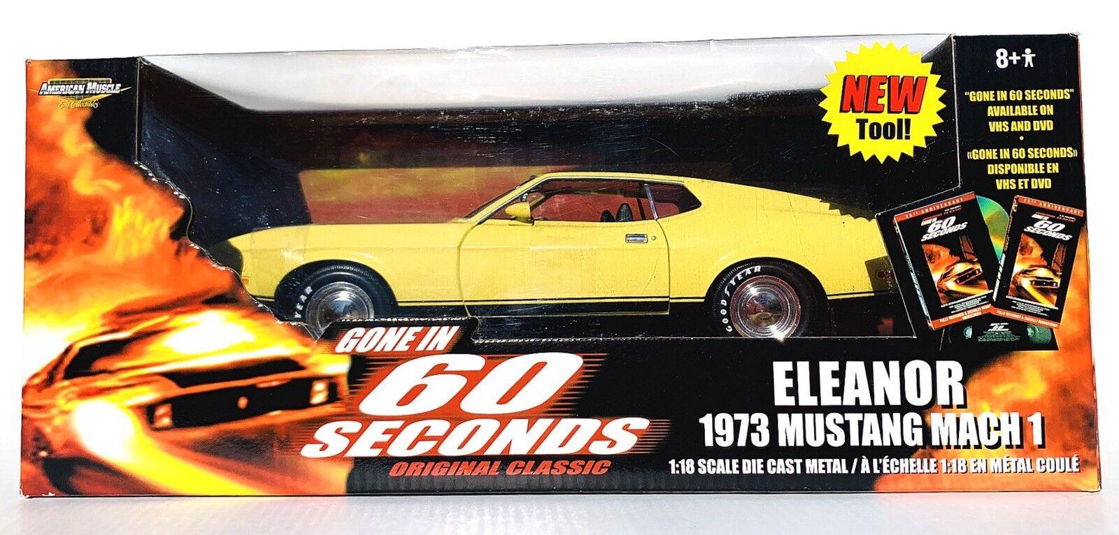 ERTL AMERICAN MUSCLE ELEANOR 1973 MUSTANG MACH 1 1 18 SCALE GONE IN 60 SECONDS