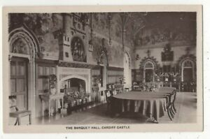 Cardiff-Castle-The-Banquet-Hall-Vintage-RP-Postcard-178c