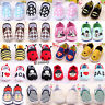 Toddler Baby Boys Girls Crib Shoes Soft Sole Prewalkers Trainers First Walkers