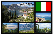 LAKE GARDA, ITALY - SOUVENIR NOVELTY FRIDGE MAGNET - SIGHTS / TOWNS - NEW / GIFT