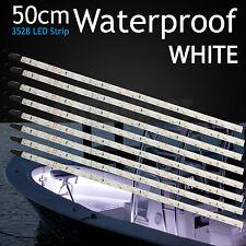 8 X Waterproof 50CM Boat White Flexible LED Strip Lights Fishing Deck Decor DIY