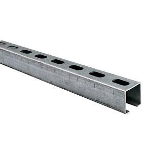 Montageschiene – Installationsschiene 38x40mm 200cm, 1 Stück Silber