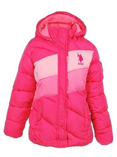 US Polo Association Girls Big Midweight Bubble Jacket Pick SZ//Color.