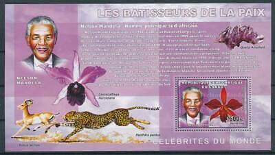 598083) Kongo ** Blockausgabe Orchideen Mandela ... Angenehme SüßE