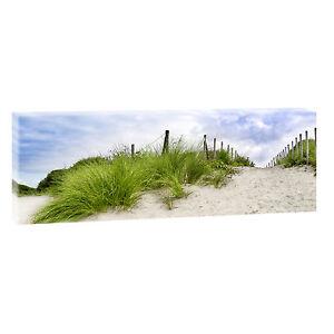 Strand 2 Bild Panorama Leinwand Poster Strand Meer Nordsee 150 cm* 50 cm 623