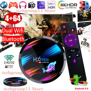 H96MAX X3 4+64G Android 9.0 8K TV BOX 5G WLAN BT Quad Core HDMI Amlogic S905x3