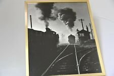 "Steam engine professional photographs, professionally printed, 21"" x 17"" B&W 3"