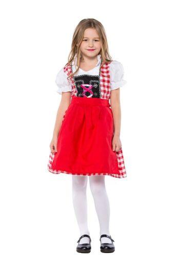 Girls Oktoberfest Costume Beer Maid Bavarian Party German Kids Child Fancy Dress