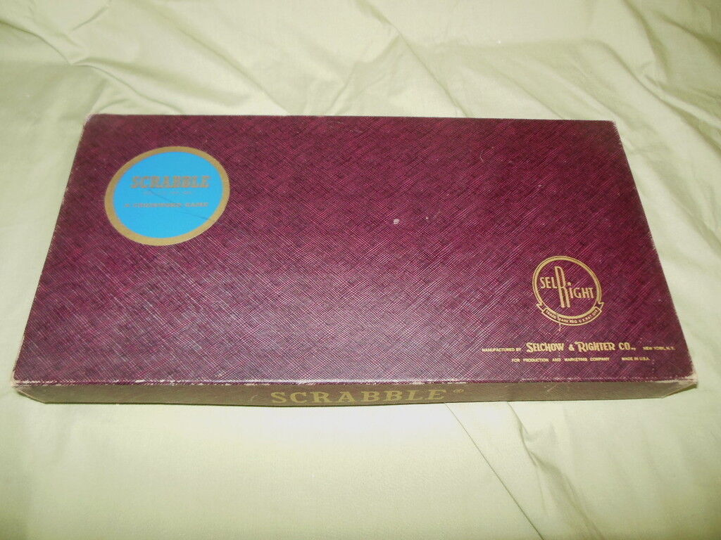 Vintage SCRABBLE GAME Selright Selchow & Righter Co 1948 Copyright DATE
