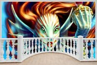 Huge 3D Balcony Fantasy Under Sea Wall Stickers Decal Wallpaper 433