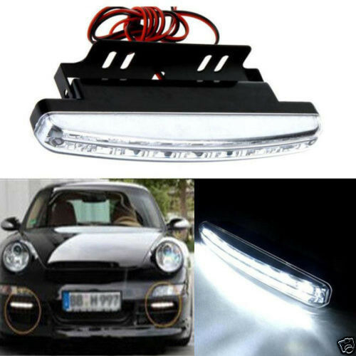 Waterproof 12V 8 LED Daytime Driving Running Light DRL Car Fog Lamp DC WHolesale