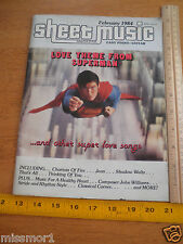 Superman Christopher Reeves Love Theme song Sheet Music magazine 1984