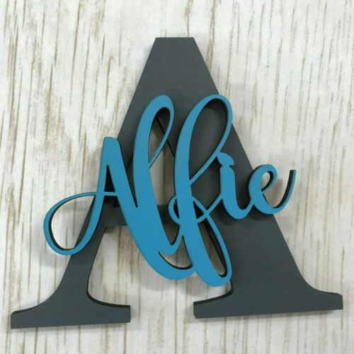*ANY NAME /& COLOUR* Personalised painted wooden letter with script name