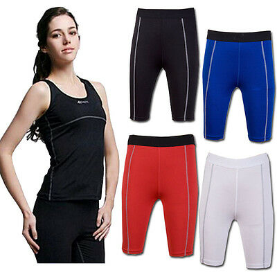 Women's Body Compression Gym Baselayer Layer Athletic Thermal Under Skins Shorts