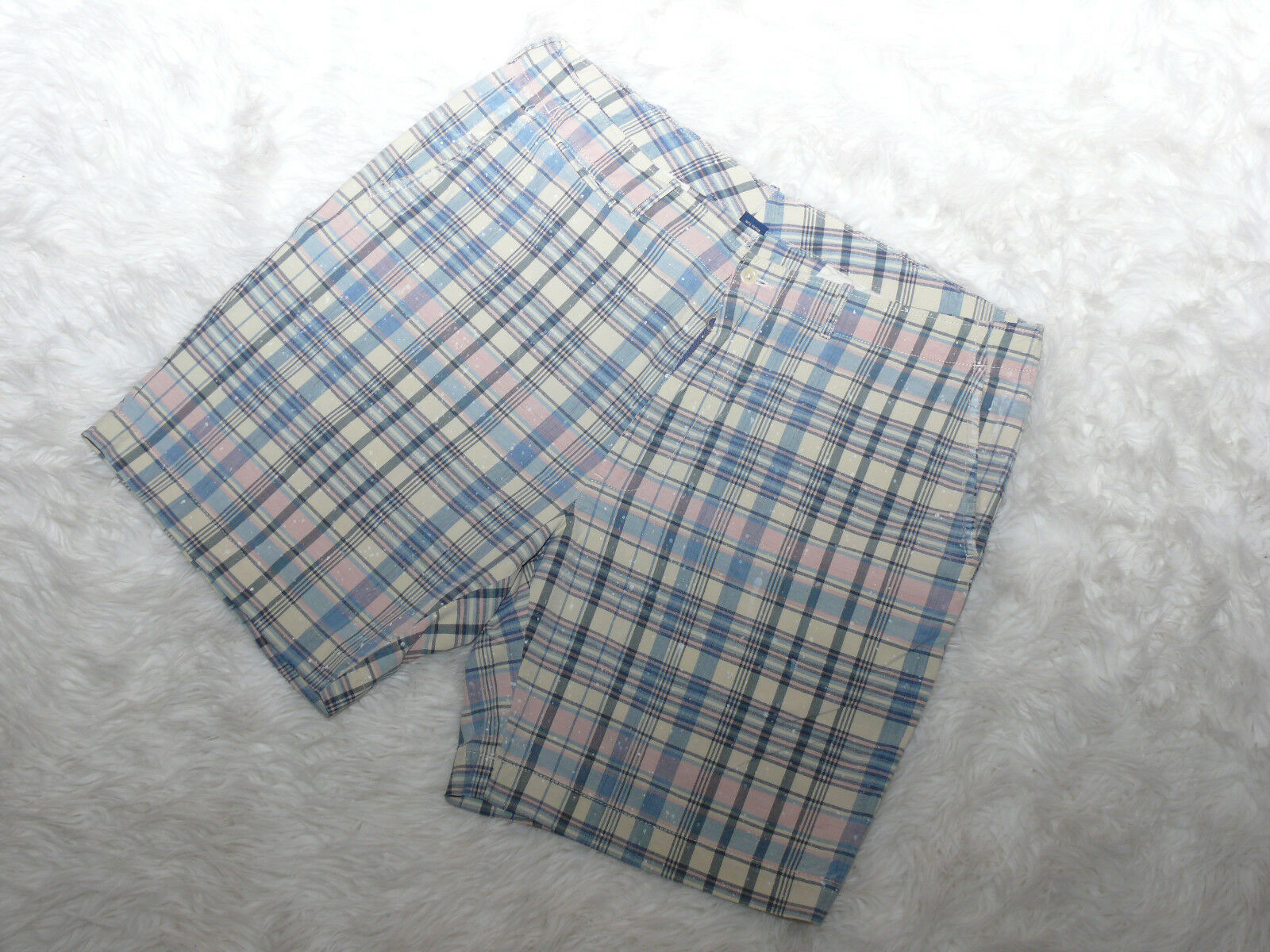 POLO RALPH LAUREN Men's Size 40 Distress Plaids Shorts NWOT