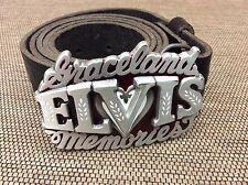 Elvis Presley Belt - 1995 Graceland Memories Made In USA Great American Buckles