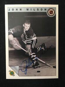 JOHN-WILSON-1992-ULTIMATE-AUTOGRAPHED-SIGNED-AUTO-HOCKEY-NHL-CARD-65
