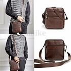 Vintage Men Leather Shoulder Bag Crossbody Messenger Handbag Satchel Briefcase