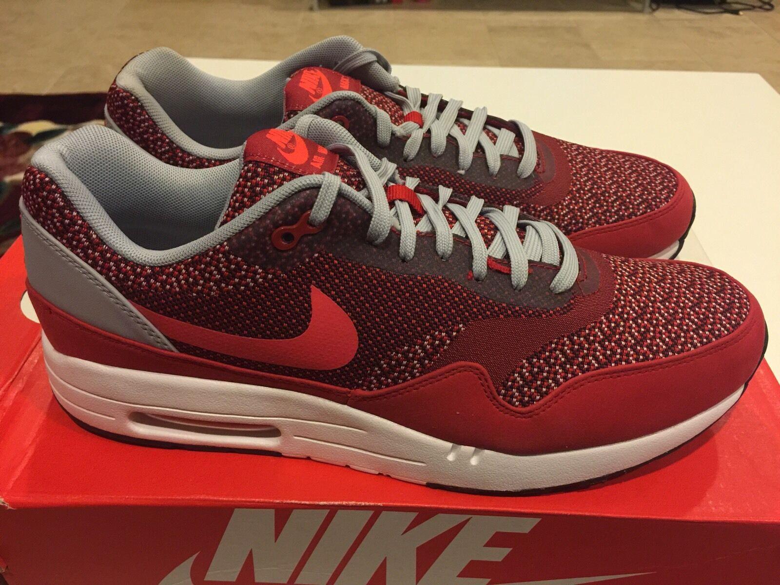 Nike Air Max 1 JCRD Gym Red Laser Crimson [644153 600] Size 10.5