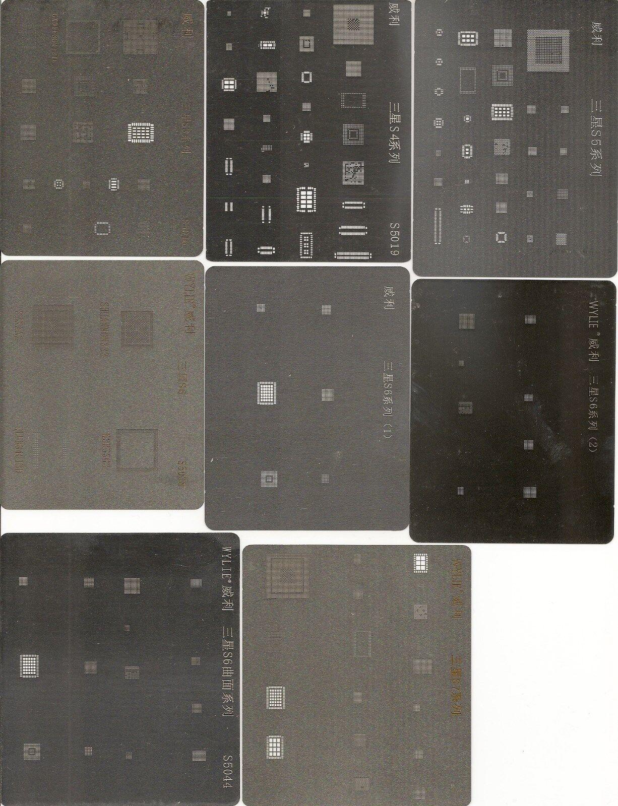 WYLIE Stencil, BGA Reballing kit for Samsung S3,S4,S5,S6,S7 Note 3,4,5