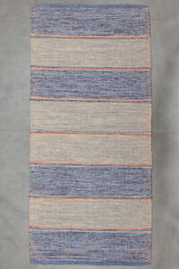Handwoven-Carpet-Kilim-Striped-Dhurrie-Cotton-Area-Rug-23-034-X50-034-Home-Entrance-Mat