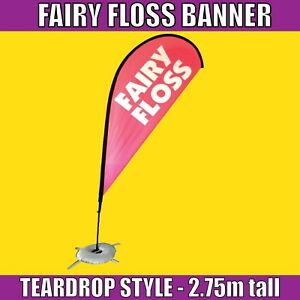 Candy floss flags Candy floss flag banners UK 2 great for advertisement