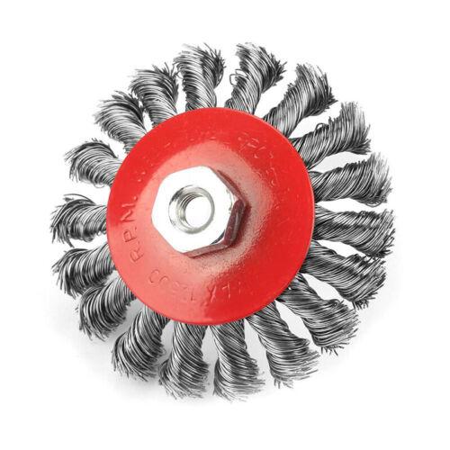 Rotierende Twist Knot Stahldraht Rad Bürste Disc 90//100mm Trimmer Mithelfer