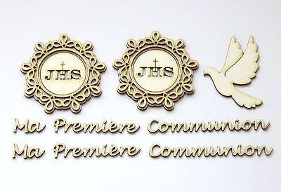 DIE CUT die cuts decoration Ma Premiere Communion lot 2 CHIPBOARD hôte