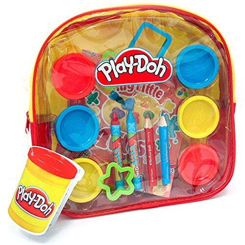 Zaino Plastilina Colori Disegno Play-Doh Playset 13 Pezzi Set Plastichina Colori