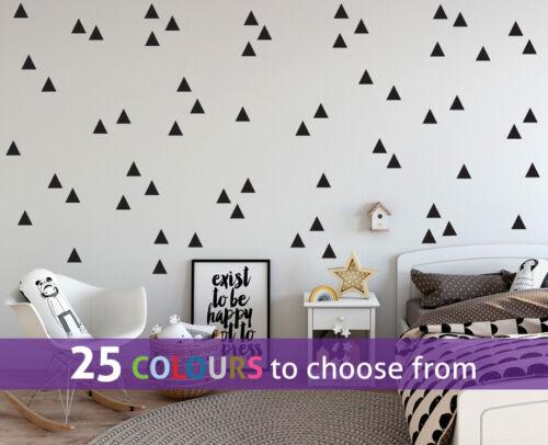 60 Pack forma de triángulo Pegatinas de pared Calcomanías Mediano Grande Confeti Salon Vivero