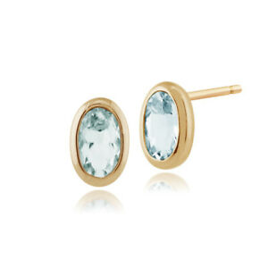 Gemondo-9ct-Yellow-Gold-0-46ct-Aquamarine-Oval-Framed-Stud-Earrings