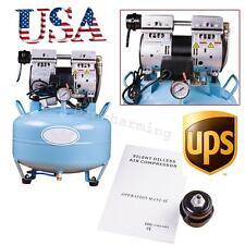 34hp Silent Oil Free Oilless Air Compressor Pressure Motor For Dental Chair 30l