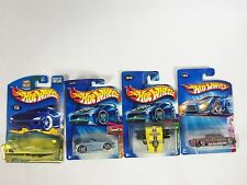 Lot of 4 Hot Wheels Mixed Assorted Carded Cars 2000's Steel Flame