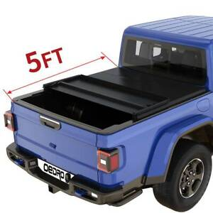 OEDRO Soft Tri-Fold Tonneau Cover for 2020-2021 Jeep Gladiator JT 5ft Truck Bed
