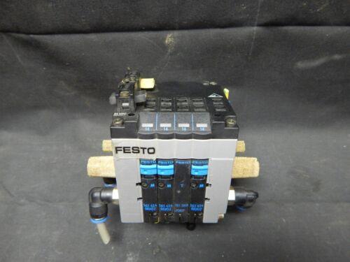 FESTO CPV-10 Pneumatic Valve Manifold Block w// 161 369 3 1 161 414 M902 /&