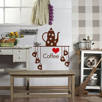 00904 Wall Stickers Sticker Adesivi Murali Mensola coffee love 50x57 cm