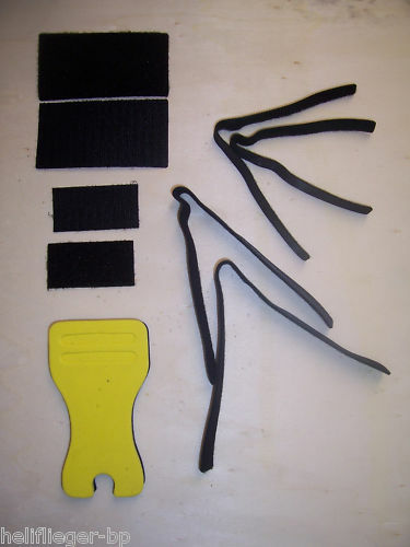 Schaumstoff Blatthalter für 500er Helis mit Klettbänder