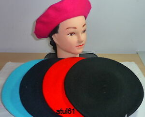 FRENCH-UNISEX-BERET-BEANIE-HAT-FANCY-DRESS-HAT-CAP-NEW