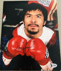 2cc8936524fe1 Details about Manny Pacquiao Signed PACMAN Boxing Auto 8x10 Autograph Photo  #1 (Beckett BAS)