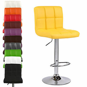 Cubain-en-PU-Cuir-Synthetique-Petit-Dejeuner-Tabourets-Bar-Tabouret-Chaise-Chaises-Siege-Home-Shop