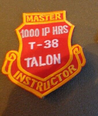 Patch U.s.a.f 80th Flying Training Squadron,master Instructor,1000 Ip Hours