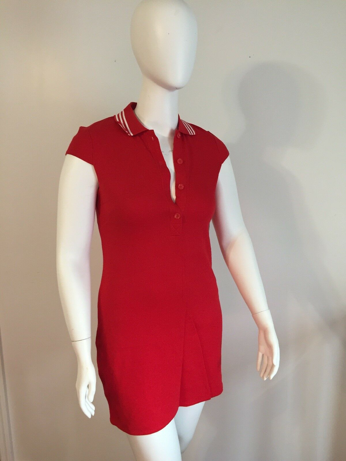 NWT W by WORTH Red Henley Sweatshirt Dress Sz 8