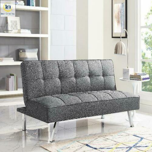 Futon 3 Seat Sofa Bed Sleeper Convertible Couch Foldable Full Size With Mattress