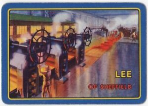 Playing-Cards-1-Single-Card-Old-Wide-LEE-Sheffield-STEELWORKS-Advertising-Art-2