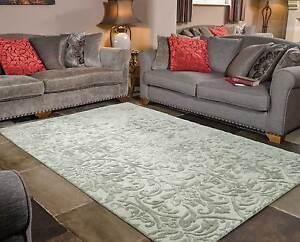 Details About Mayfair Dorchester Grey Modern Handmade Wool Viscose Rugs 120x170cm